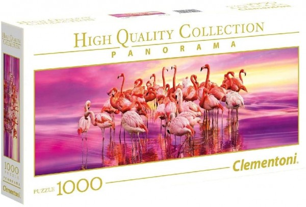 Clementoni 39427 - High Quality Collection - Flamingo Tanz Panorama Puzzle, 1000 Teile