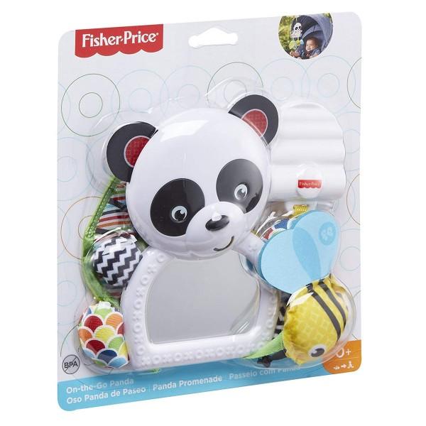 Mattel FGH91 - Fisher-Price - Spielzeug, Greifling mit Spiegel, Panda