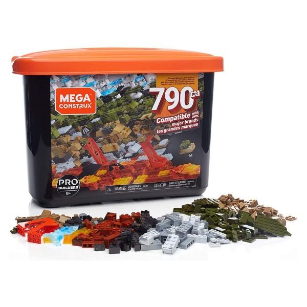 Mattel GJD26 - Mega Construx - Pro Builders - Große Bausteine Box, 790 Teile