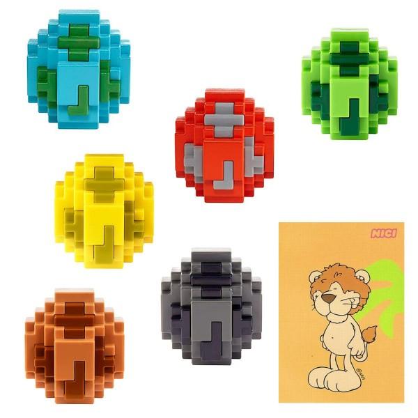 SPAR-SET 182575 - Minecraft - 6 Spawn-Eier, mehrfach sortiert, garantiert 6 verschiedene Minifiguren