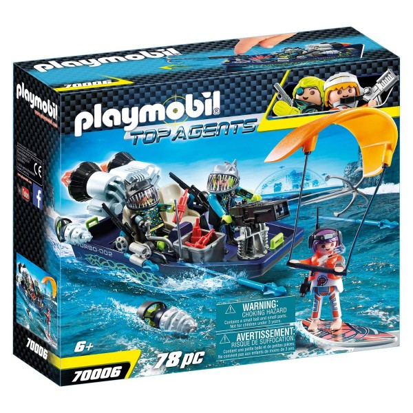 PLAYMOBIL® 70006 - Top Agents - Team S.H.A.R.K. Harpoon Craft