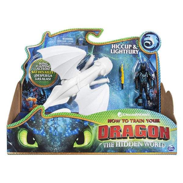 Spin Master 6053475 (20116161) - Dreamworks Dragons 3 - Actionfiguren, Tagschatten und Hicks / Light