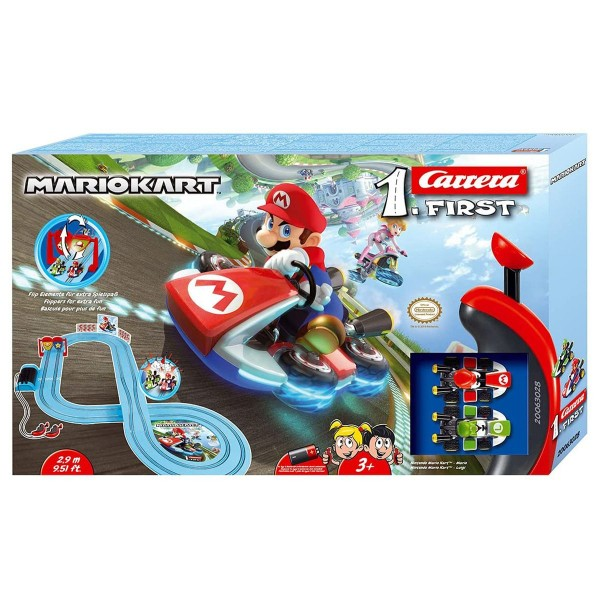 Stadlbauer 20063028 - Carrera First - Nintendo - Mario Kart - Rennstrecke 2,9 Meter - inkl. 2 Fahrze