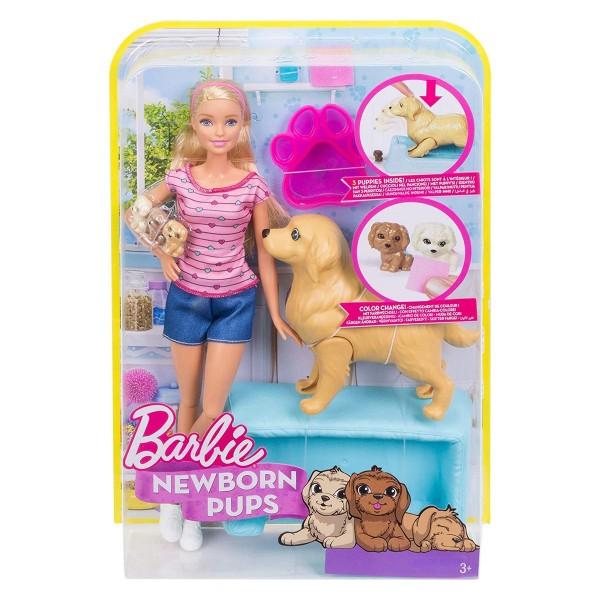 Mattel FDD43 - Barbie - Puppe mit Hundemama & Welpen
