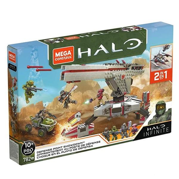 Mattel GNB27 - Mega Construx - HALO Infinite - Defense Point Showdown, Pro Builders Bausatz, 782 Tei