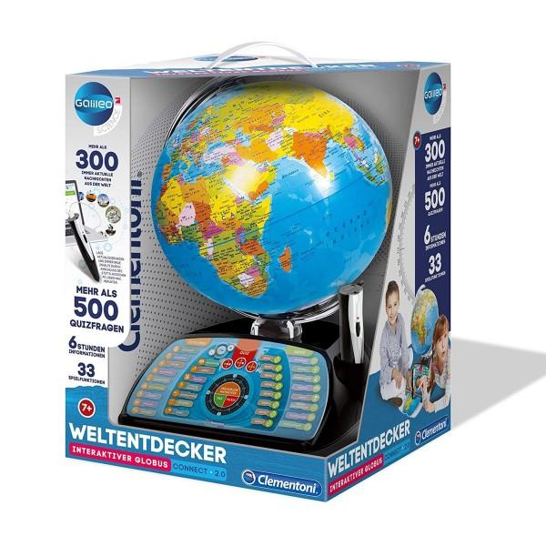 Clementoni 59095 - Galileo Science - Weltentdecker - interaktiver Globus, sprechende Weltkugel