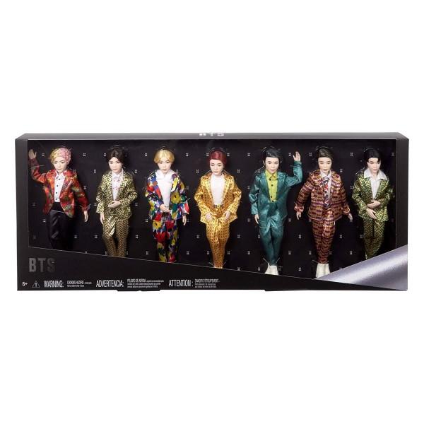 Mattel GMY42 - BTS - Bangtan Boys - Idol Puppen 30cm , Geschenkset, 7-er Pack
