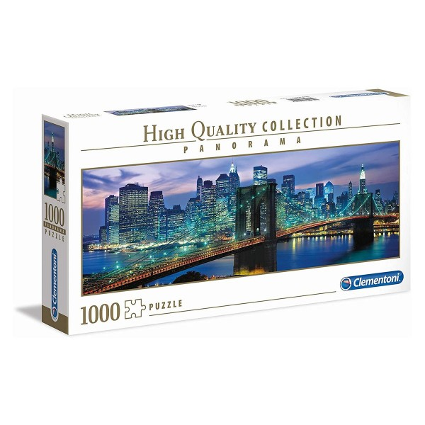 Clementoni 39434 - High Quality Collection - New York Brooklyn Bridge Panorama Puzzle, 1000 Teile