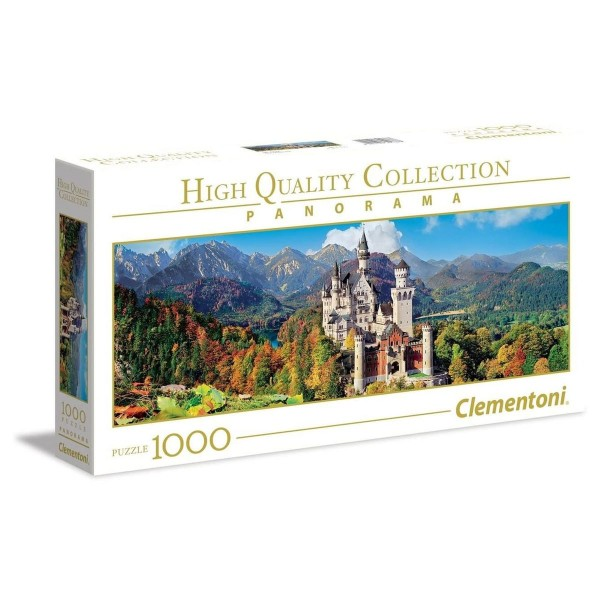 Clementoni 39438 - High Quality Collection - Schloss Neuschwanstein Panorama Puzzle, 1000 Teile