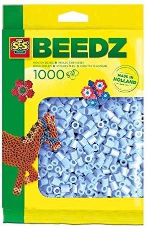 SES 00714 - Bügelperlen 1000 Stück hellblau