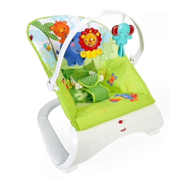 Mattel CJJ79 - Fisher-Price - Baby Schaukel, Wippe und Sitz mit Spielbügel