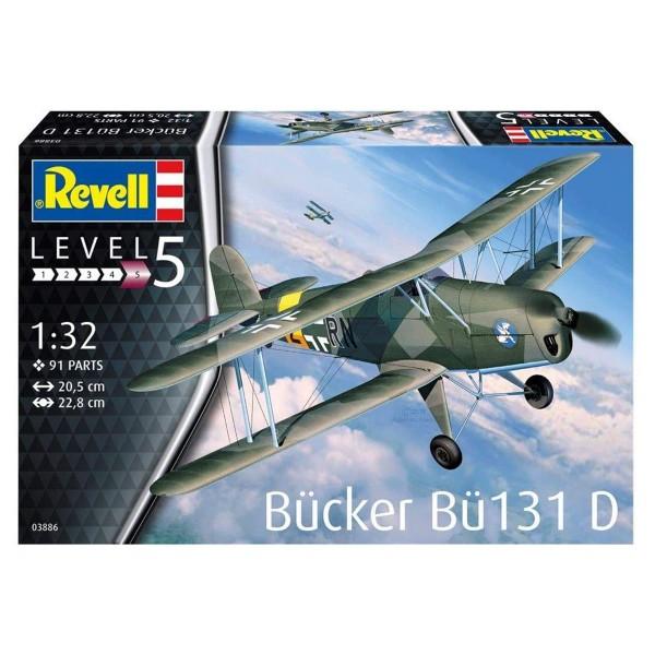 Revell 03886 - Modellbausatz, Bücker Bü-131 Jungmann