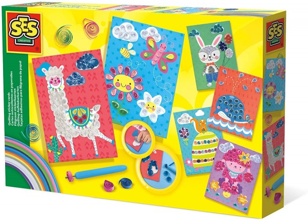 SES 14015 - Quilling-Aufkleberkarten