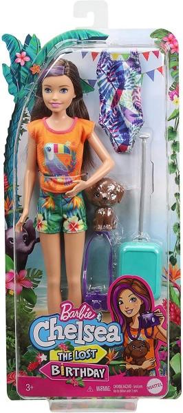Mattel GRT88 - Barbie - Chelsea the Lost Birthday - Puppe mit Zubehör, Dschungelabenteuer