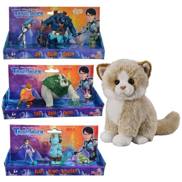 SPAR-SET 183151 - Simba - DreamWorks Trolljäger - Spielfiguren-Set, 9 verschiedenen Charakteren - Ji