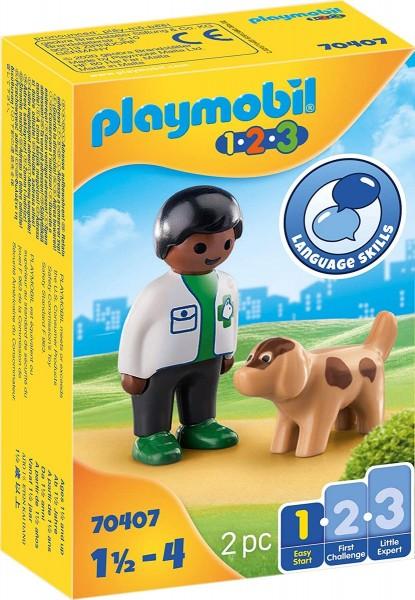 PLAYMOBIL® 70407 - 1•2•3 - Tierarzt mit Hund
