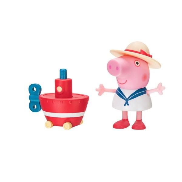Jazwares PEP0546 - Peppa Pig - Peppa's Bootsabenteuer