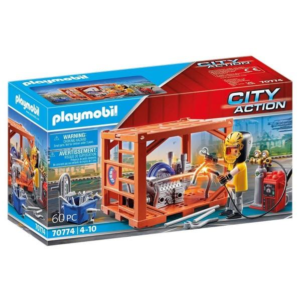 PLAYMOBIL® 70774 - City Action - Containerfertigung