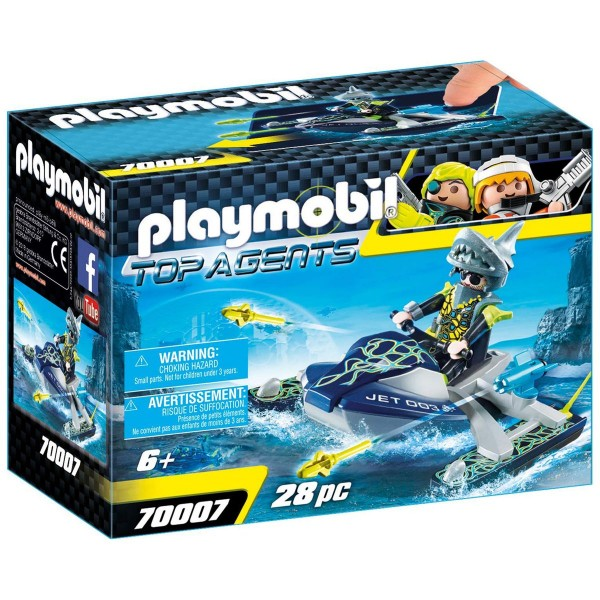 PLAYMOBIL® 70007 - Top Agents - Team S.H.A.R.K. Rocket Rafter