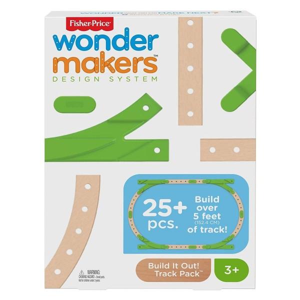 Mattel GFP81 - Fisher Price - wonder makers - Holzspielzeug, Erweiterungsset Schienen