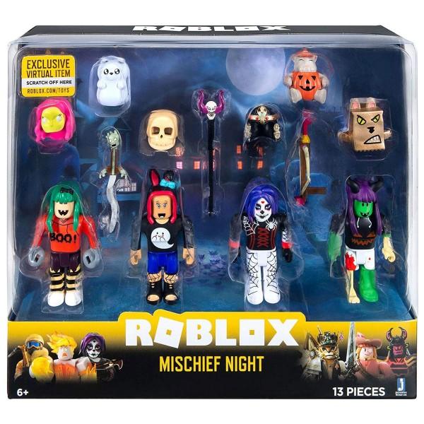 Jazwares ROG0126 (ROX0003) - Roblox - Mischief Night - 4er Pack Figuren mit Zubehör