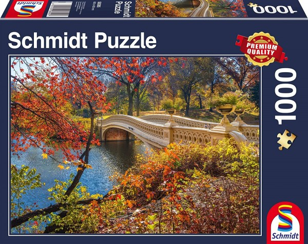 Schmidt 58305 - Premium Quality - Spaziergang im Central Park, New York, 1000 Teile Puzzle