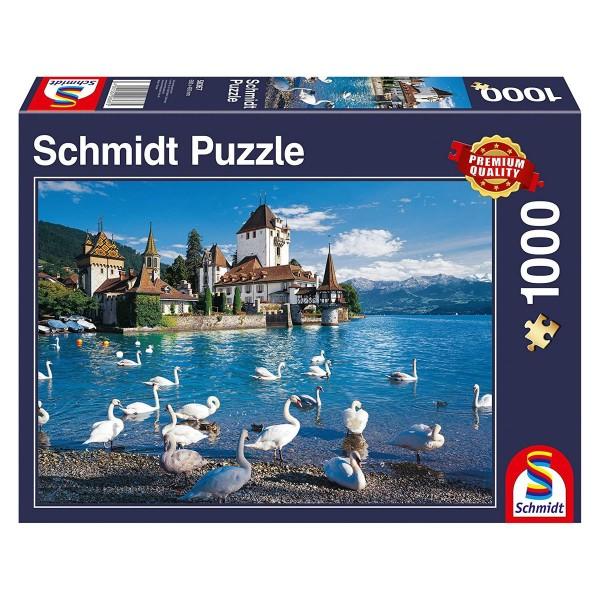Schmidt 58367 - Premium Quality - Ufer mit Schwänen - Puzzle 1000 Teile