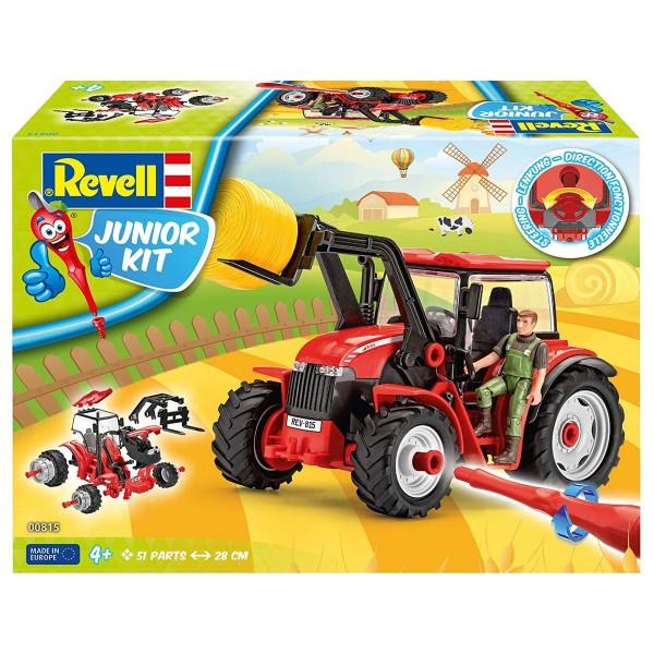 Revell 00815 - Junior Kit - Bausatz, Traktor mit Frontlader & Figur; 1:20