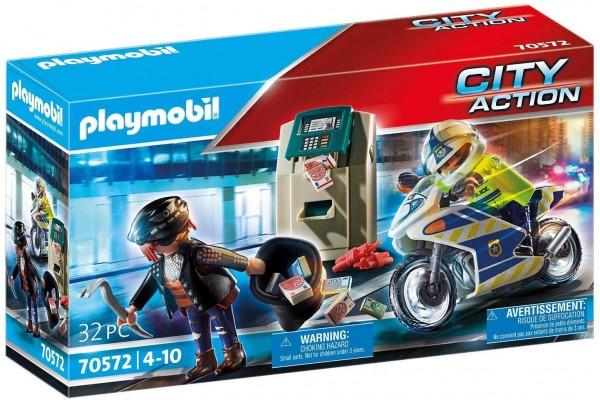 PLAYMOBIL® 70572 - City Action - Polizei-Motorrad: Verfolgung des Geldräubers