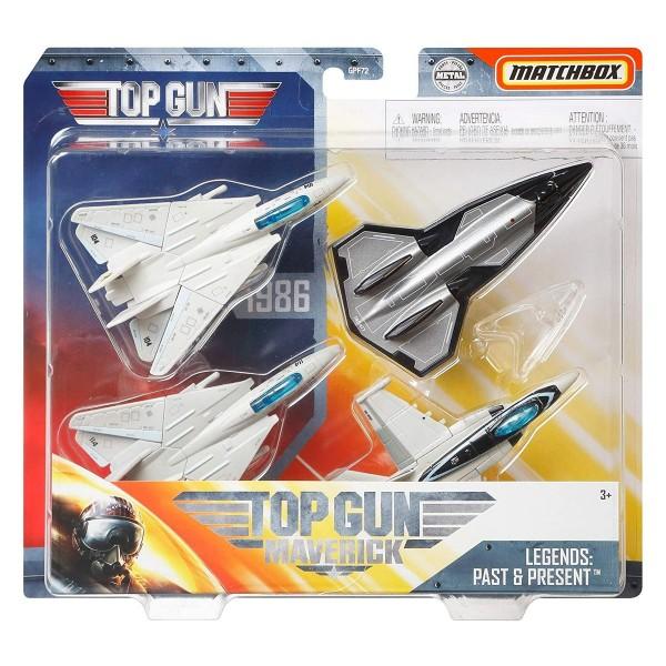 Mattel GPF72 - Matchbox - Top Gun - Militärflugzeuge, Die Cast, 4-er Pack, Skybusters