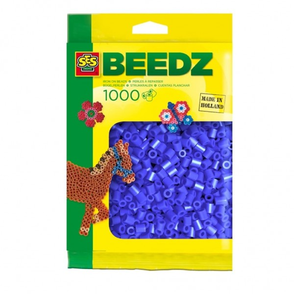 SES 00724 - Bügelperlen 1000 Stk. dunkelblau