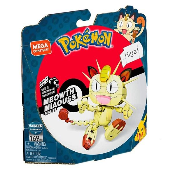 Mattel GKY98 - Mega Construx - Pokemon - Bausteine Set mit 169 Teilen, Mauzi