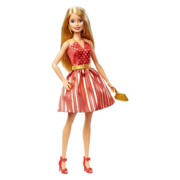 Mattel GFF68 - Barbie - Puppe im rot-goldenen Kleid