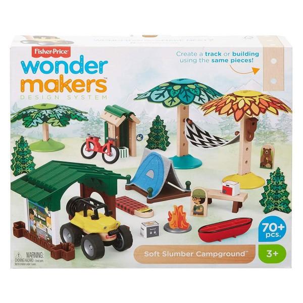 Mattel GFJ10 - Fisher Price - wonder makers - Spielset, Bausteine aus Holz, Campingplatz