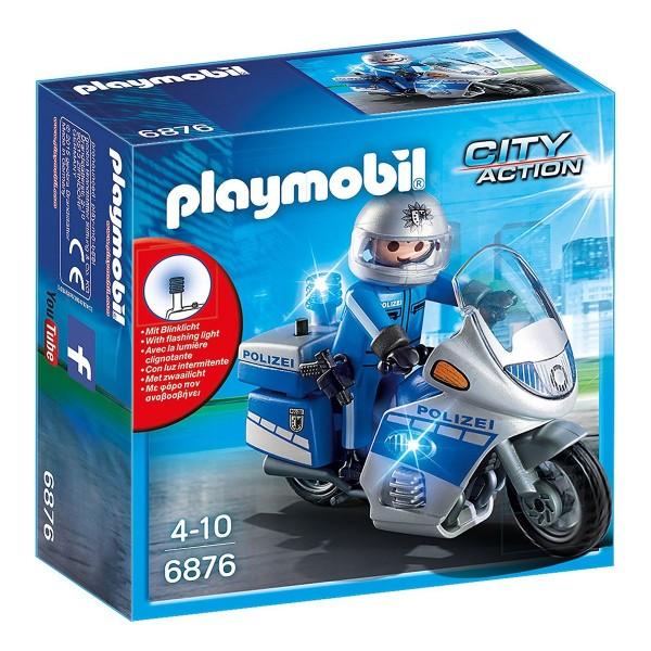 PLAYMOBIL® 6876 - City Action - Motorradstreife mit LED Blinklicht