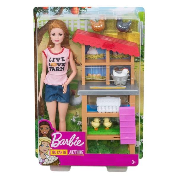 Mattel FXP15 - Barbie - You can be anything - Bäuerin mit Hühnern und Küken