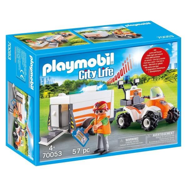 PLAYMOBIL® 70053 - City Life - Quad mit Rettungsanhänger
