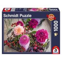Schmidt 58369 - Premium Quality - Beeren und Blumen, 1000 Teile Puzzle