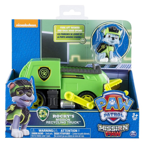 Spin Master 6031703 (20079029) - Paw Patrol - Mission Paw - Rocky's Mission Recycling Truck