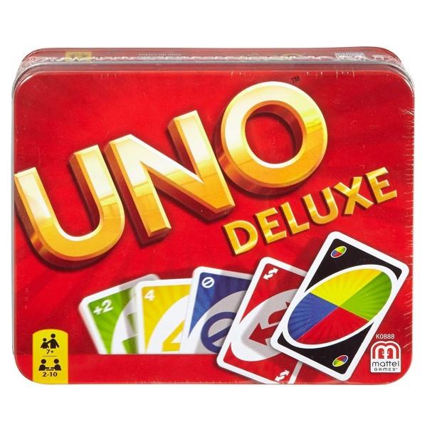 Mattel K0888 - UNO - Kartenspiel in Metall-Box, UNO Deluxe