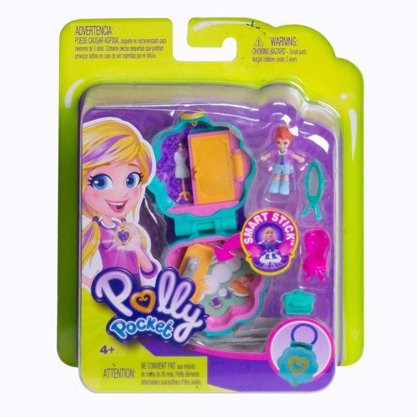 Mattel FRY31 - Polly Pocket - Mini Schatulle, lila Schrank