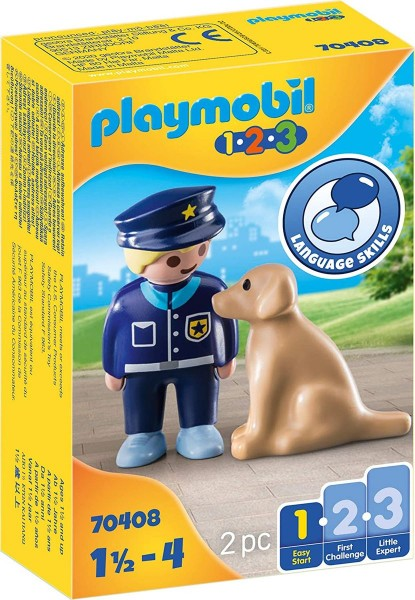 PLAYMOBIL® 70408 - 1•2•3 - Polizist mit Hund