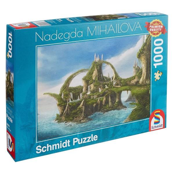 Schmidt 59610 - Premium Quality - Nadegda Mihailova - Insel der Wasserfälle, 1000 Teile Puzzle
