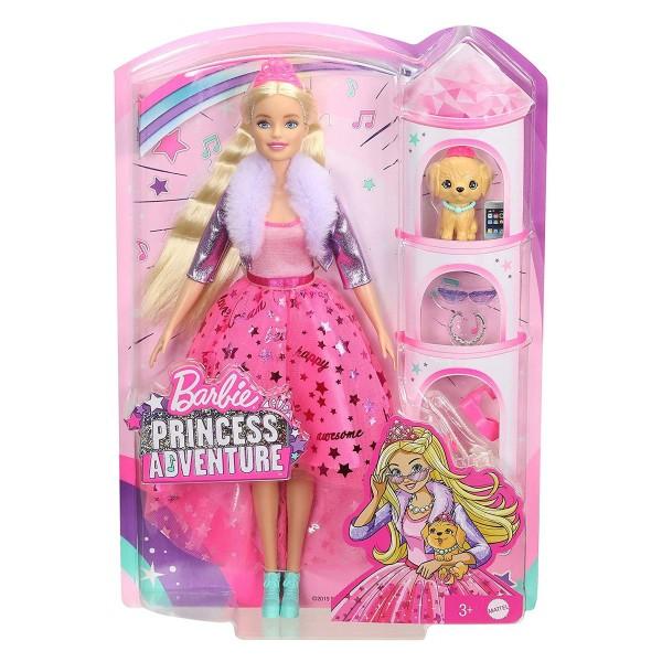 Mattel GML76 - Barbie - Princess Adventure - Puppe mit Hund und Zubehör, Prinzessin