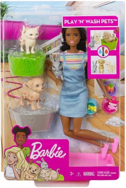 Mattel FXH12 - Barbie - Spielset Badespaß, Puppe und Tiere mit Zubehör