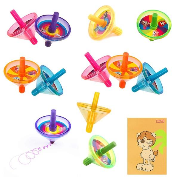 SPAR-SET 172926 - Ylvi & die Minimoomis - 12 Kreisel-Stifte in 6 Farben