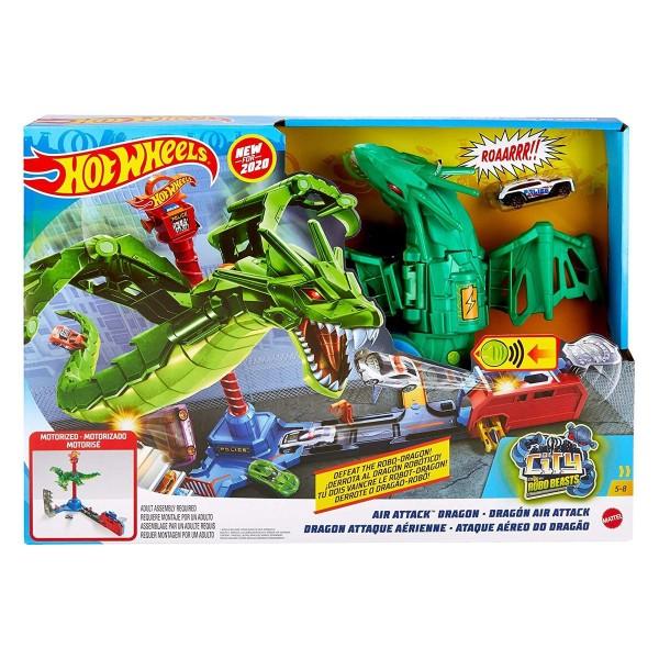 Mattel GJL13 - Hot Wheels - Spielset, City Air Attack, Dragon