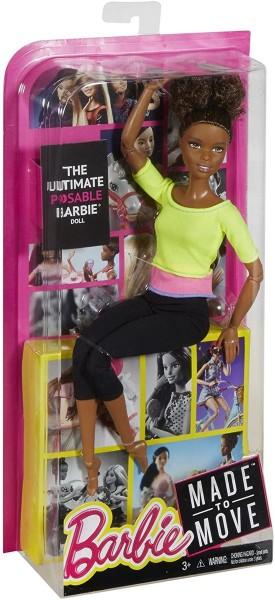 Mattel DHL83 - Barbie - Made to Move - Puppe mit gelbem Top