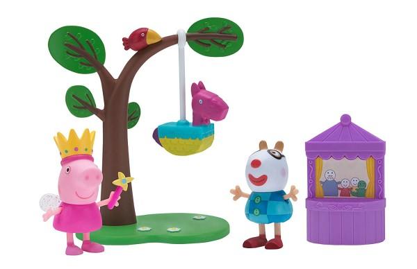 Jazwares 97026 - Peppa Pig - Spielset mit Peppa und Pedro Pony - Geburtstagsfeier