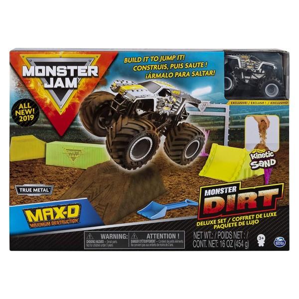 Spin Master 6044986 (20103746) - Monster Jam - Monster Dirt Deluxe Set, mit True Metal Monstertruck